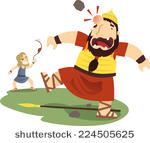 stock-vector-david-and-goliath-cartoon-illustration-224505625
